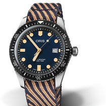 Oris Divers Sixty Five Steel 42mm Black No numerals