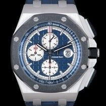 Audemars Piguet Royal Oak Offshore Chronograph Platyna 44mm Niebieski Bez cyfr