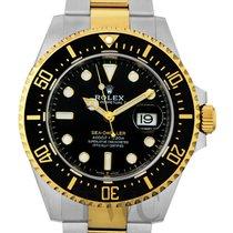 Rolex Gelbgold Automatik Schwarz 43mm neu Sea-Dweller