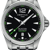 Certina DS Action CERTINA C032.851.11.057.02 Novo Aço 41mm Quartzo