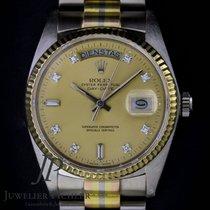 Rolex Day-Date 36 Bjelo zlato 36mm Boja šampanjca