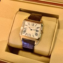 Cartier Rose gold Manual winding Silver Roman numerals 34.6mm new Santos Dumont