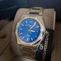 Girard Perregaux Laureato Acier 38mm Bleu Sans chiffres France