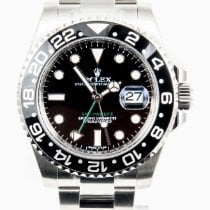 ロレックス (Rolex) GMT Master II Black Bezel Steel Black Dial Mens...