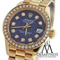 Rolex 18k Yellow Gold Ladies Presidential Datejust 26mm...