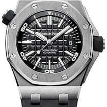 Audemars Piguet Royal Oak Offshore Diver Stål 42mm Svart Ingen tall