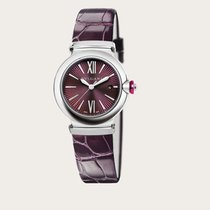 Bulgari Lucea Automatic 33mm Purple Dial Leather Strap