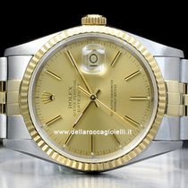 Rolex Datejust pre-owned 36mm Champagne Date Fold clasp
