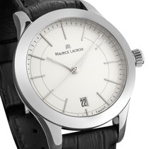 Maurice Lacroix Les Classiques Date Staal 33mm Zilver Geen cijfers