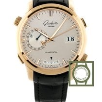 Glashütte Original Rose gold Automatic Silver 42mm new Senator Diary