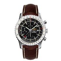 Breitling Navitimer World neu Automatik Chronograph Uhr mit Original-Box und Original-Papieren A2432212B726439XA20BA.1