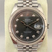 Rolex Datejust 126334 Rhodium Diamond Dial / Jubilee