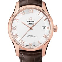 Omega De Ville Hour Vision Oro rosado 41mm Plata