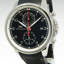 IWC Portuguese Yacht Club Chronograph pre-owned 45mm Steel