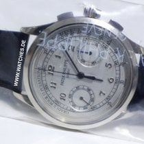 Patek Philippe Complications Chronograph White Gold Silver...