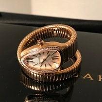 Bulgari novo Quartzo 35mm Ouro rosa Vidro de safira