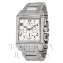 Jaeger-LeCoultre Reverso Squadra Chronograph GMT pre-owned 35mm Silver Chronograph GMT Steel