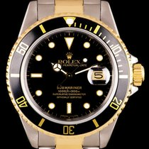 Rolex Submariner Date Acero y oro 40mm Negro