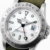"""Rolex 40mm SS Explorer ll White Dial Olive NATO Strap """"Swiss""""..."""