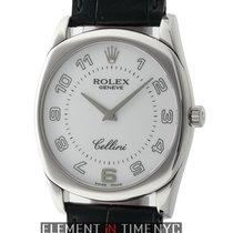 Rolex Cellini Danaos 18k White Gold 33mm White Dial D Serial...