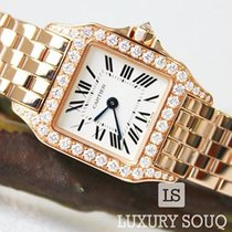 Cartier Rose gold Quartz new Santos Demoiselle