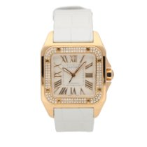 Cartier Santos 100 Rose gold 33mm Champagne Roman numerals United Kingdom, Liverpool