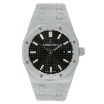 Audemars Piguet Ladies AP Royal Oak 33 Stainless Steel Black Dial