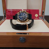 歐米茄 玫瑰金 自動發條 黑色 阿拉伯數字 45.5mm 二手 Seamaster Planet Ocean Chronograph