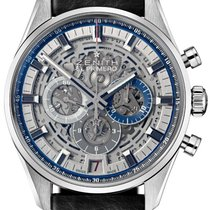 Zenith new Automatic Skeletonized Small Seconds Blue Steel Hands 42mm Steel Sapphire Glass