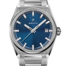 Zenith Titanium Automatic Blue No numerals 41mm new Defy
