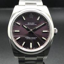 Rolex Oyster Perpetual 34 Acier 34mm Violet Sans chiffres