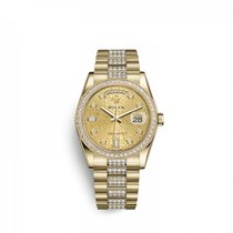 Rolex Day-Date 36 Yellow gold 36mm Champagne