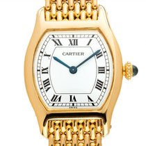 Cartier Tortue Oro amarillo 30mm Blanco Romanos