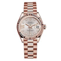 Rolex Rose gold Automatic Pink No numerals 28mm new Lady-Datejust