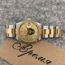 Rolex Oyster Perpetual Date подержанные 34mm Жёлтый Дата Золото/Сталь