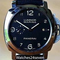 Panerai Luminor Marina 1950 3 Days Automatic pre-owned 44mm Black Date Calf skin