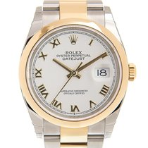 Rolex Datejust Acero y oro 36mm Blanco