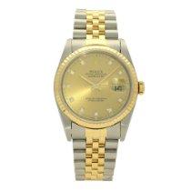 Rolex 16233 Goud/Staal 1994 Datejust 36mm tweedehands