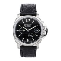 Panerai Luminor Power Reserve occasion 40mm Noir Date Cuir de crocodile