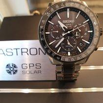 Seiko Astron GPS Solar Tantale 43mm Sans chiffres