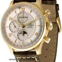 Zeno-Watch Basel Желтое золото Автоподзавод Белый 44mm новые