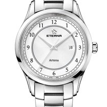 Eterna Artena Steel 40mm White