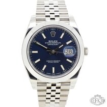 Rolex Datejust 41 | Blue Index Dial | Jubilee Steel | 126300 NEW