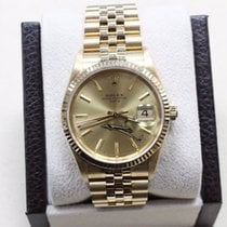 Rolex Oyster Perpetual Date 15238 18k Yellow Gold Mint...