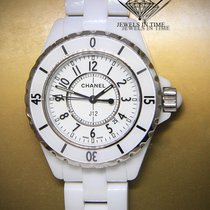 Chanel J12 White Ceramic Arabic Dial with Date Ladies 33mm...