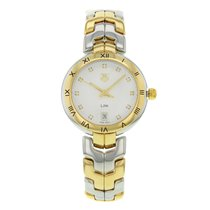 TAG Heuer Link Lady pre-owned 34mm Silver Date Gold/Steel