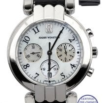 Harry Winston Premier pre-owned 37mm Mother of pearl Chronograph Leather