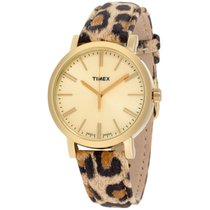 Timex Heritage Gold Dial Leather Strap Ladies Watch Tw2p69800