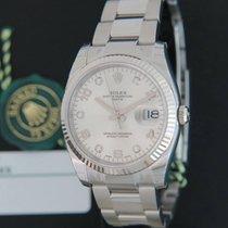 Rolex Date Silver Diamonds NEW 115234