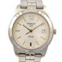 Tissot 36mm Quartz 1990 tweedehands Zilver